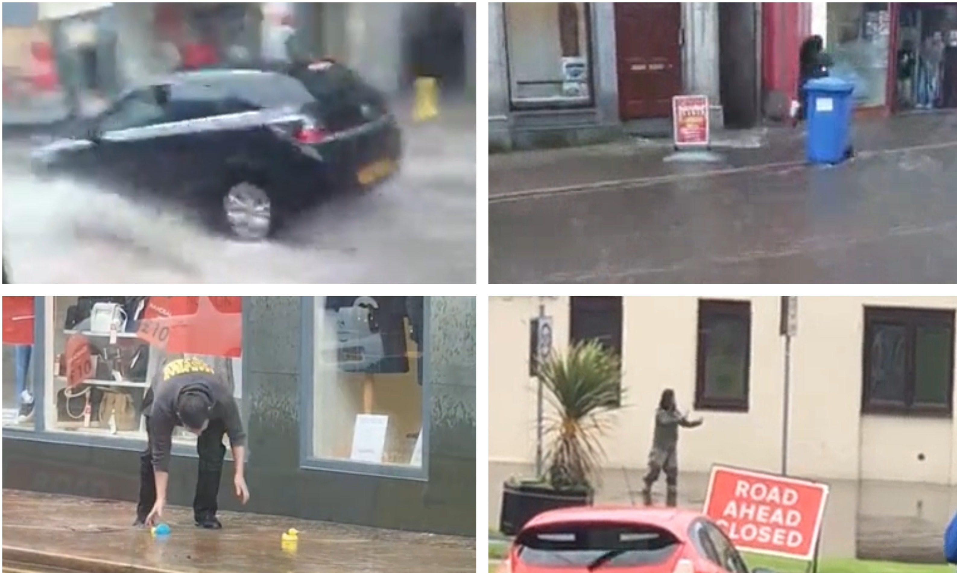 Flooding hits Kirkcaldy.