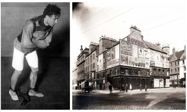There was great excitement ahead of Houdini's Dundee bow.