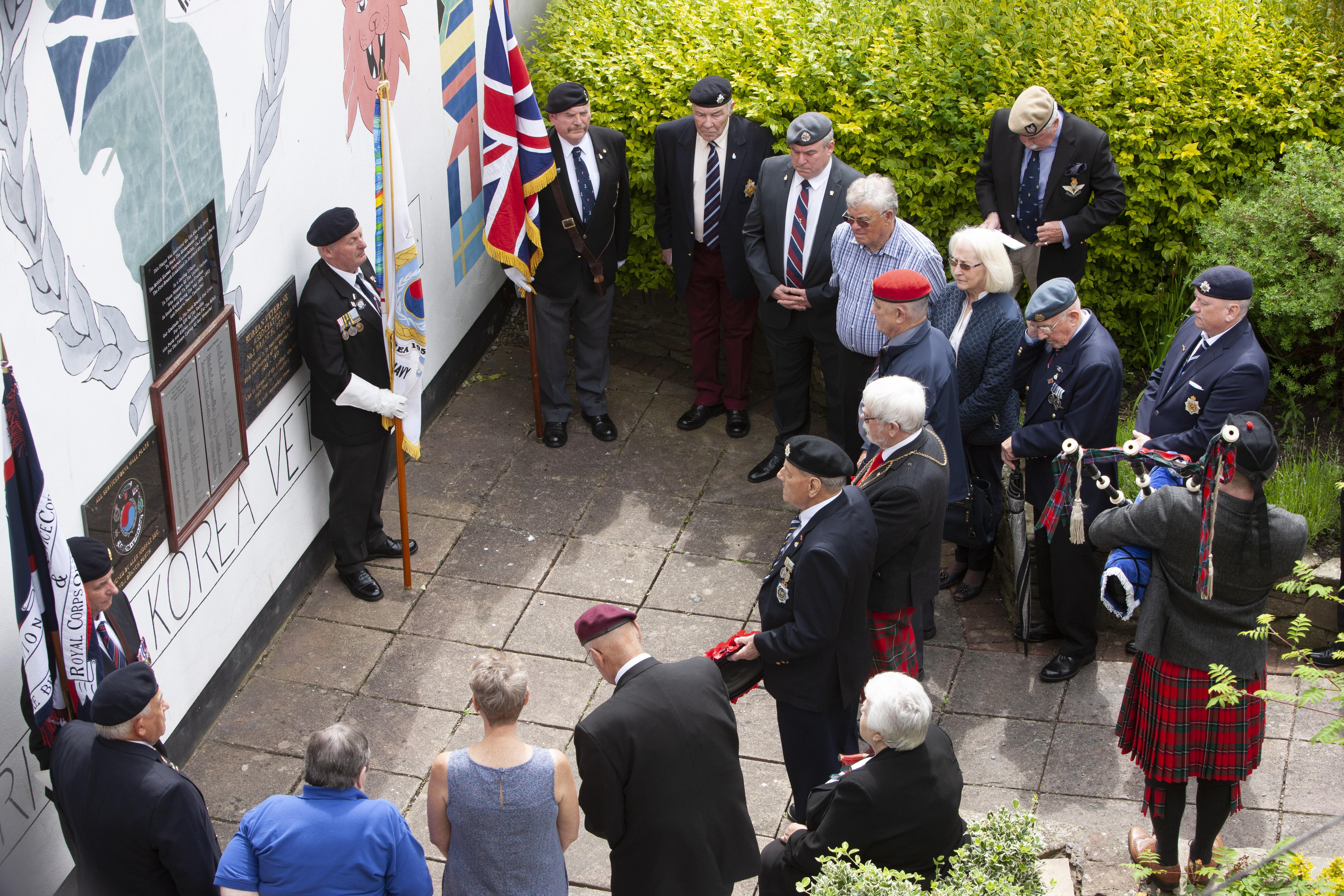 Veterans remember the victims of the Korean War.