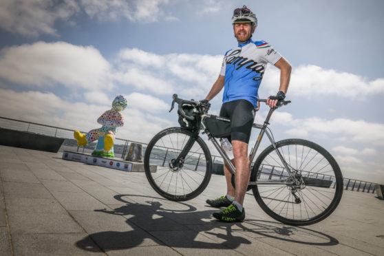 Mike Rennie is one of a group from NCR Dundee who have decided to take part in a major cycling challenge to raise funds for The Archie Foundation