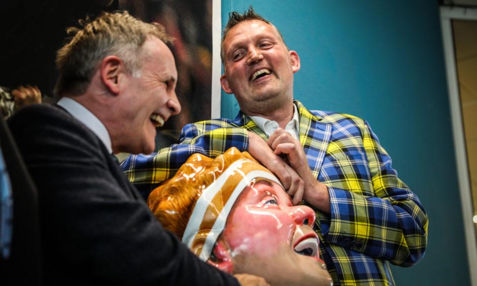 Doddie Weir with Oor Doddie in 2019.
