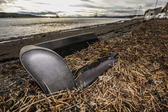 The couch on Broughty Ferry beach
