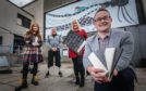 Maddy Doig, Keith Wellington, Kristin Alexander and Montrose Playhouse chairman David Paton.