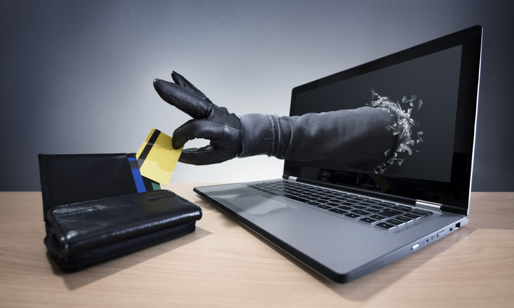 Online scammers can steal details