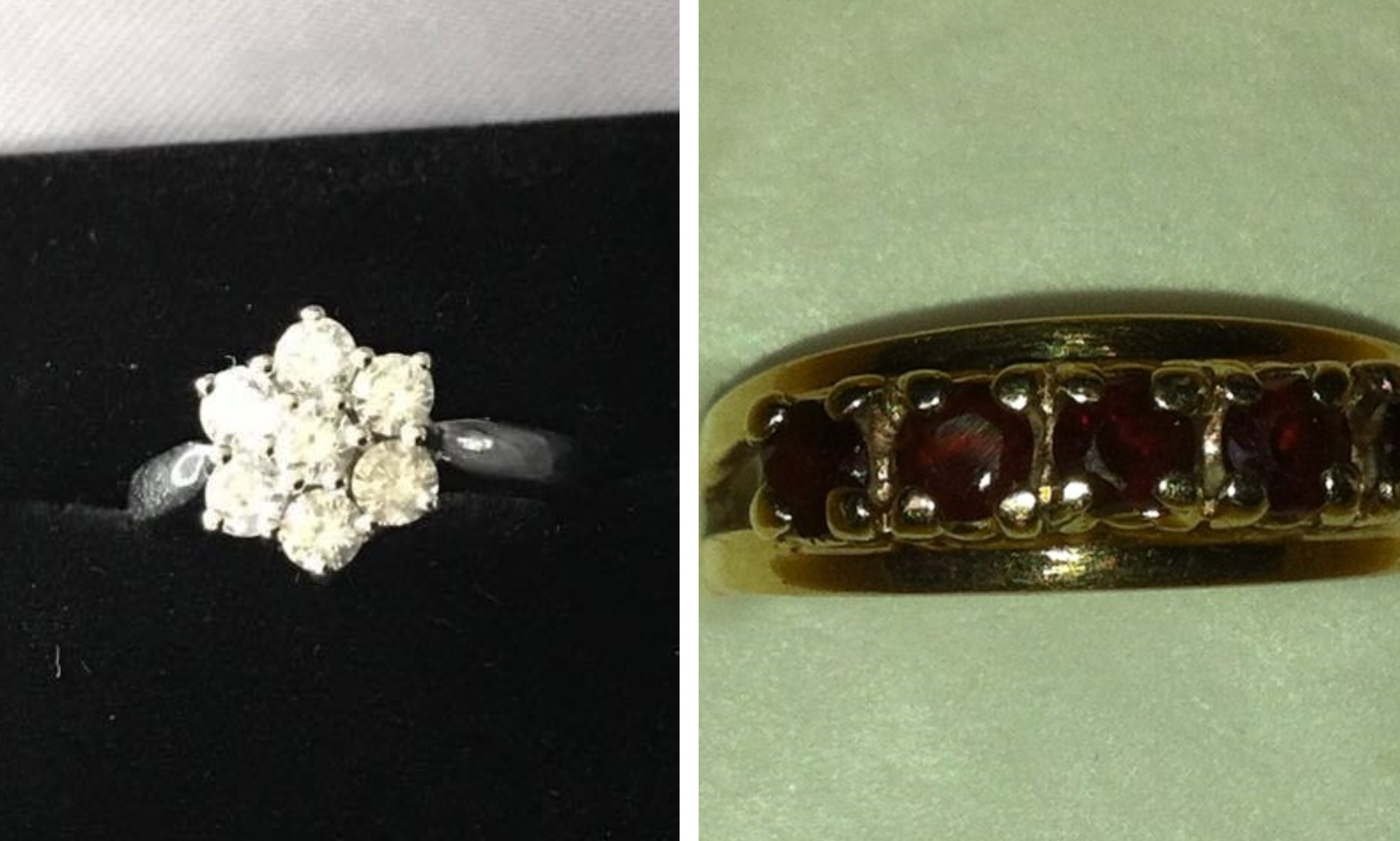Two of the stolen rings.