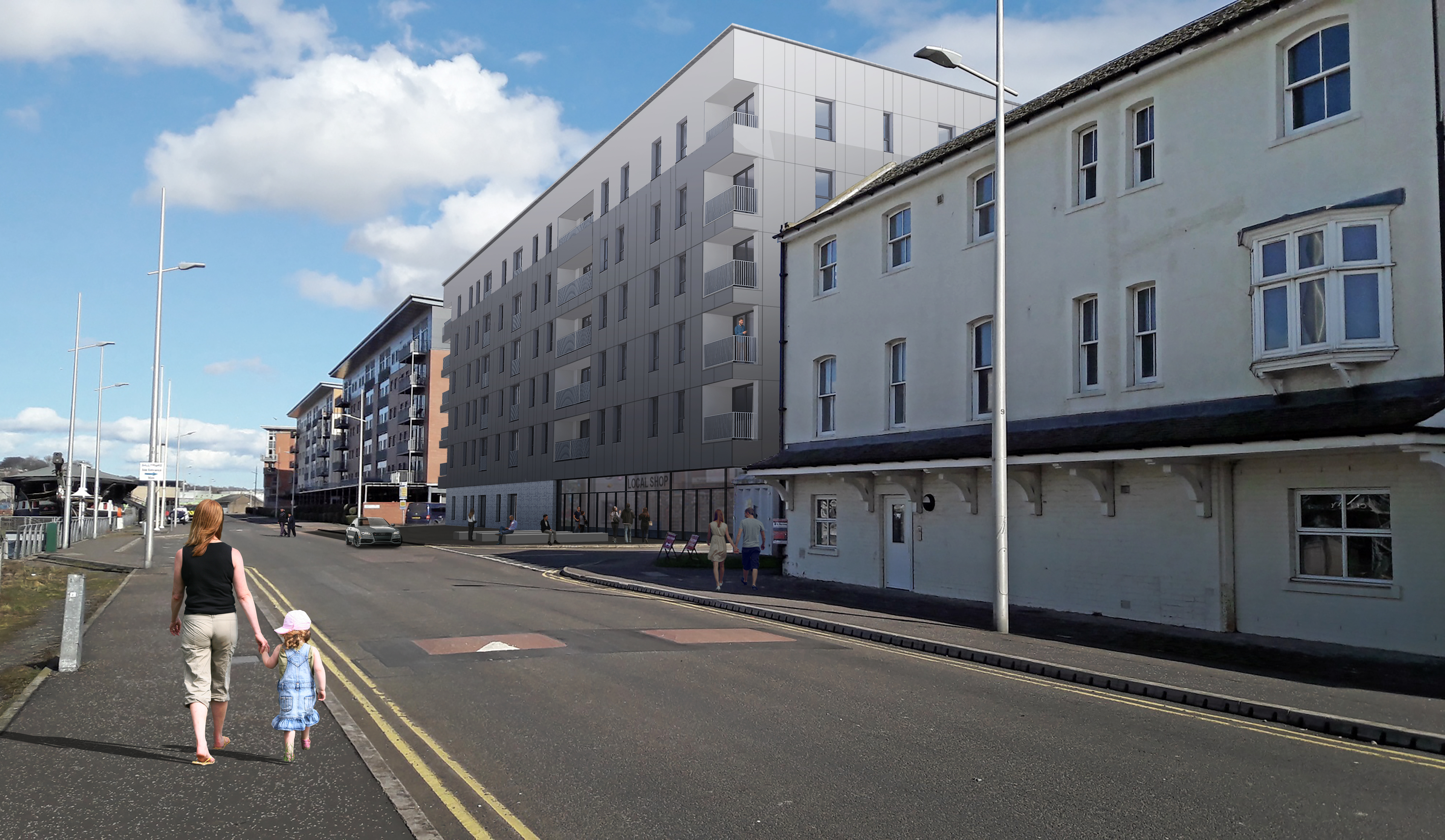 The flats will be built in a former car park