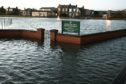 Flooding at Carnoustie Links in December 2015
