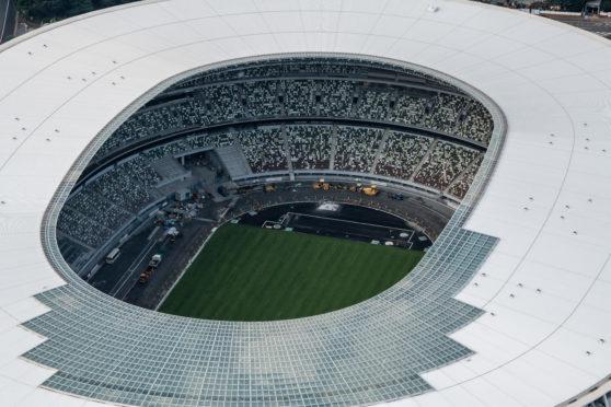 The New National Stadium, the main stadium for the Tokyo 2020 Olympics.
