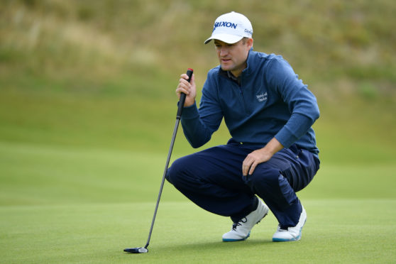 Russell Knox on the 7th green at Royal Portrush.