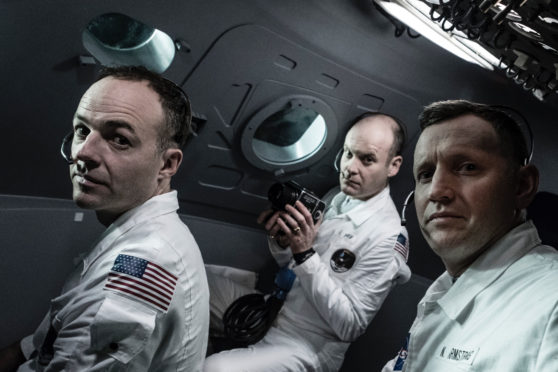 Michael Collins (Patrick Kennedy), Neil Armstrong (Rufus Wright) and Buzz Aldrin (Jack Tarlton).