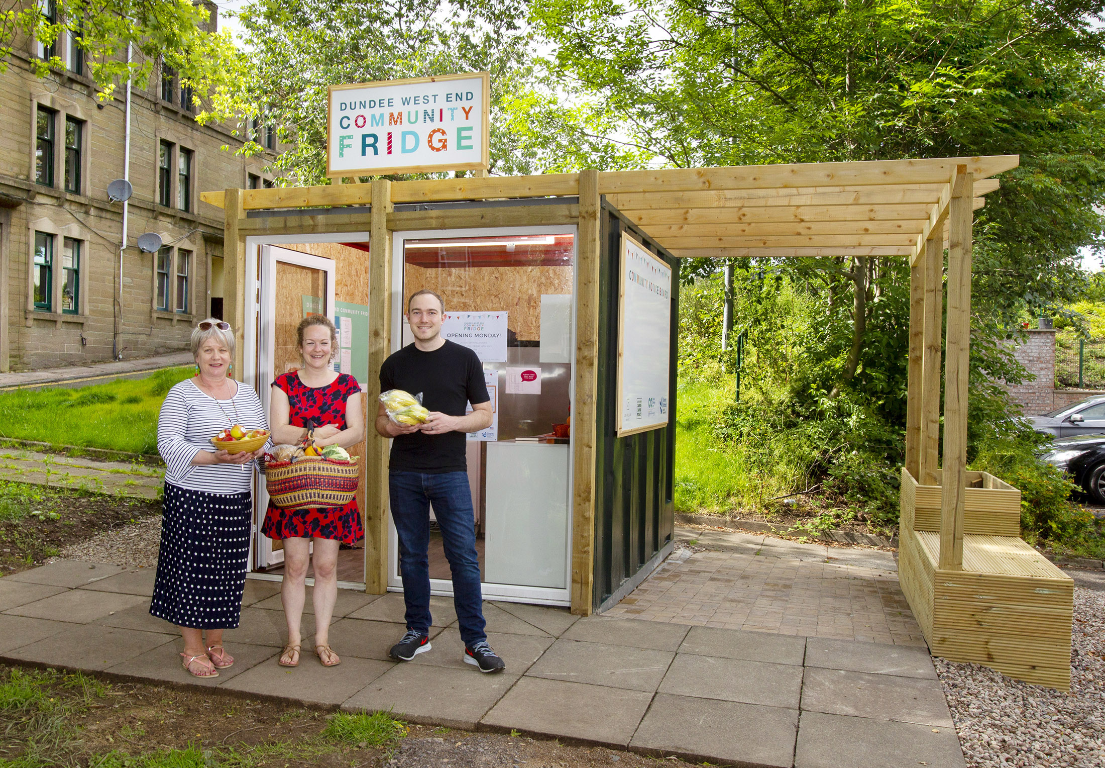 The Carbon Saving Project Team, from left, Joyce Reid, Lynsey Penny and James Anthony. Picture by Paul Reid.