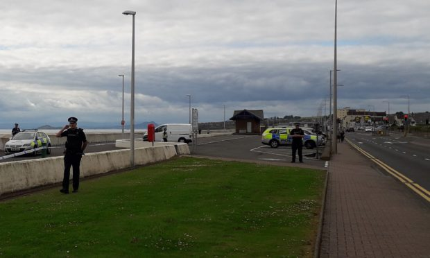 The body was discovered at Kirkcaldy beach.