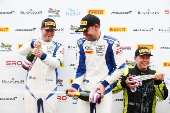 Jonny Adam (right) and Graham Davidson tasted victory at Donington.