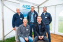 Some of the speakers at the potato open day near Meigle.