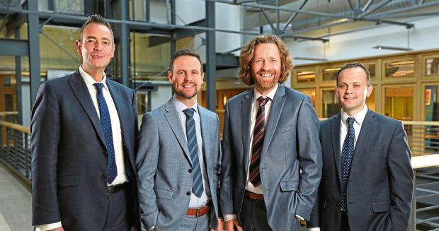 MHA Henderson Loggie in £2m funding deal Left to right: Paul Smith, Stephen Bain, David Smith, Stuart McAleese