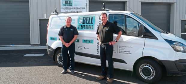 From left, Alan Smith and Bruce Cuthill will lead the new  RW Bell Electrical depot in Perth.