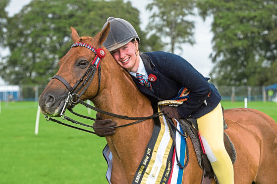 The society's Centenary silver trophy went to overall horse champion Abbas Blue Rainbow ridden by 14-year-old Ella Dunn from Kirriemuir.