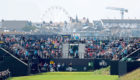 Italy's Francesco Molinari tees off the 1st at Royal Portrush.