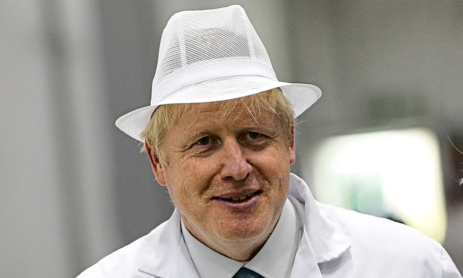 Conservative party leadership candidate Boris Johnson during a visit to Heck Foods Ltd. headquarters near Bedale in North Yorkshire.