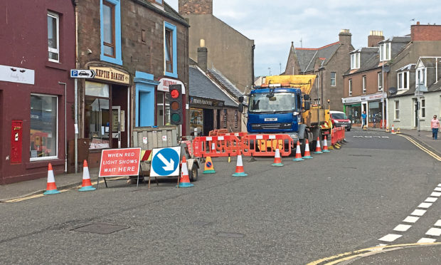Work has begun on the installation of the Keptie Street puffin crossing.