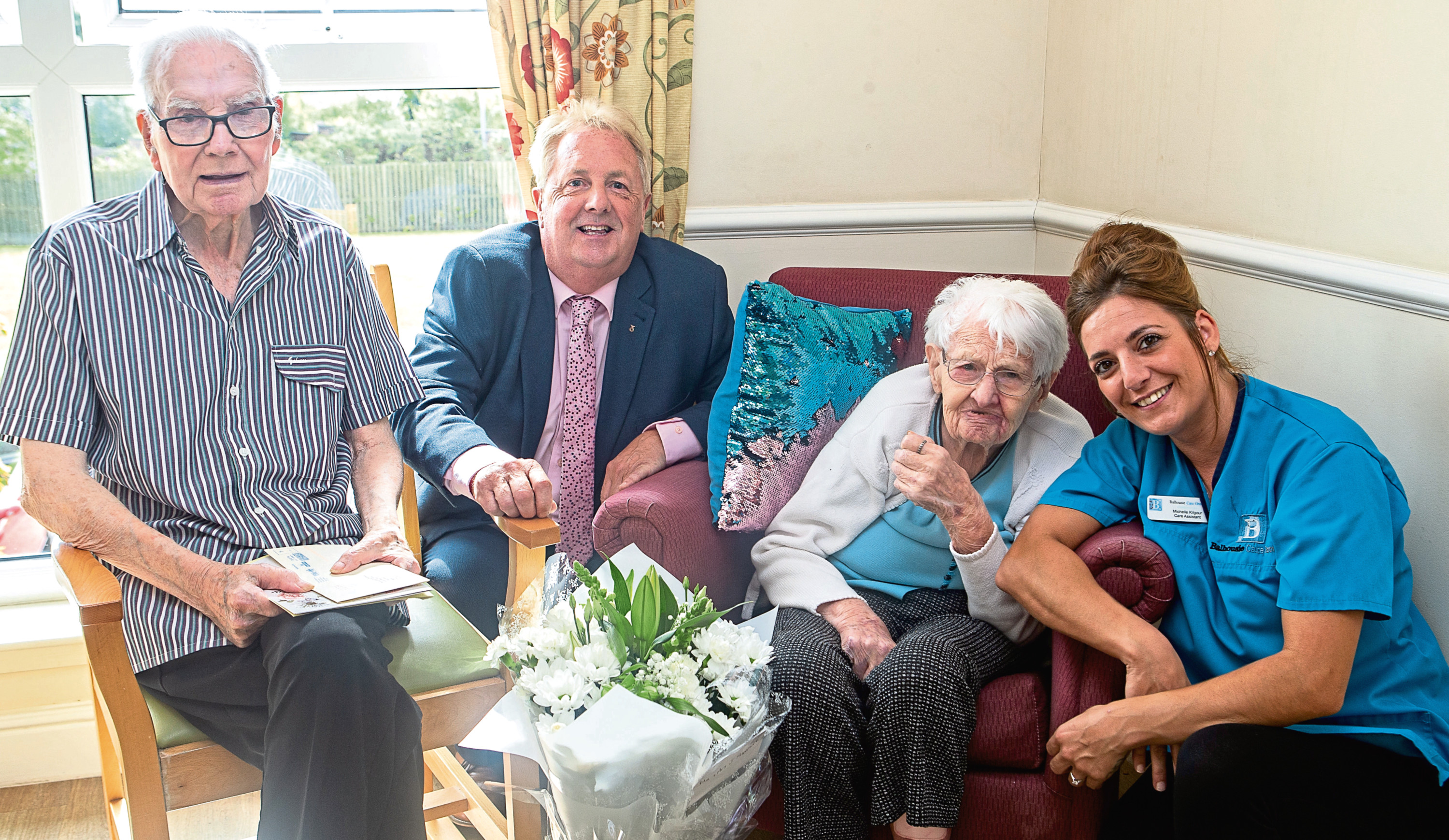 James and Netta Harrower, both residents at  Forth View Care Home Methyl, celebrated their 70th Wedding Anniversary on the July 14 2019.