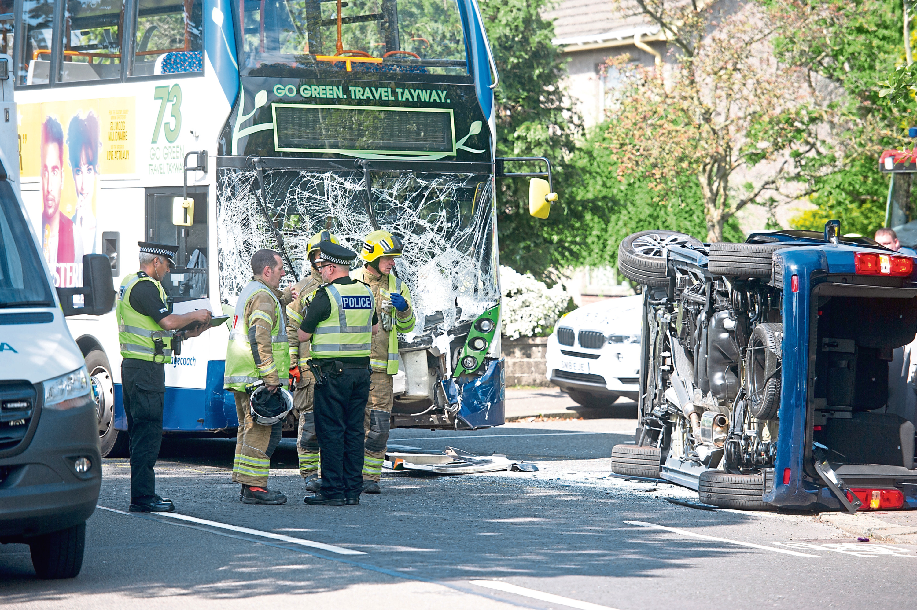 The scene of the crash on Strathern Road.