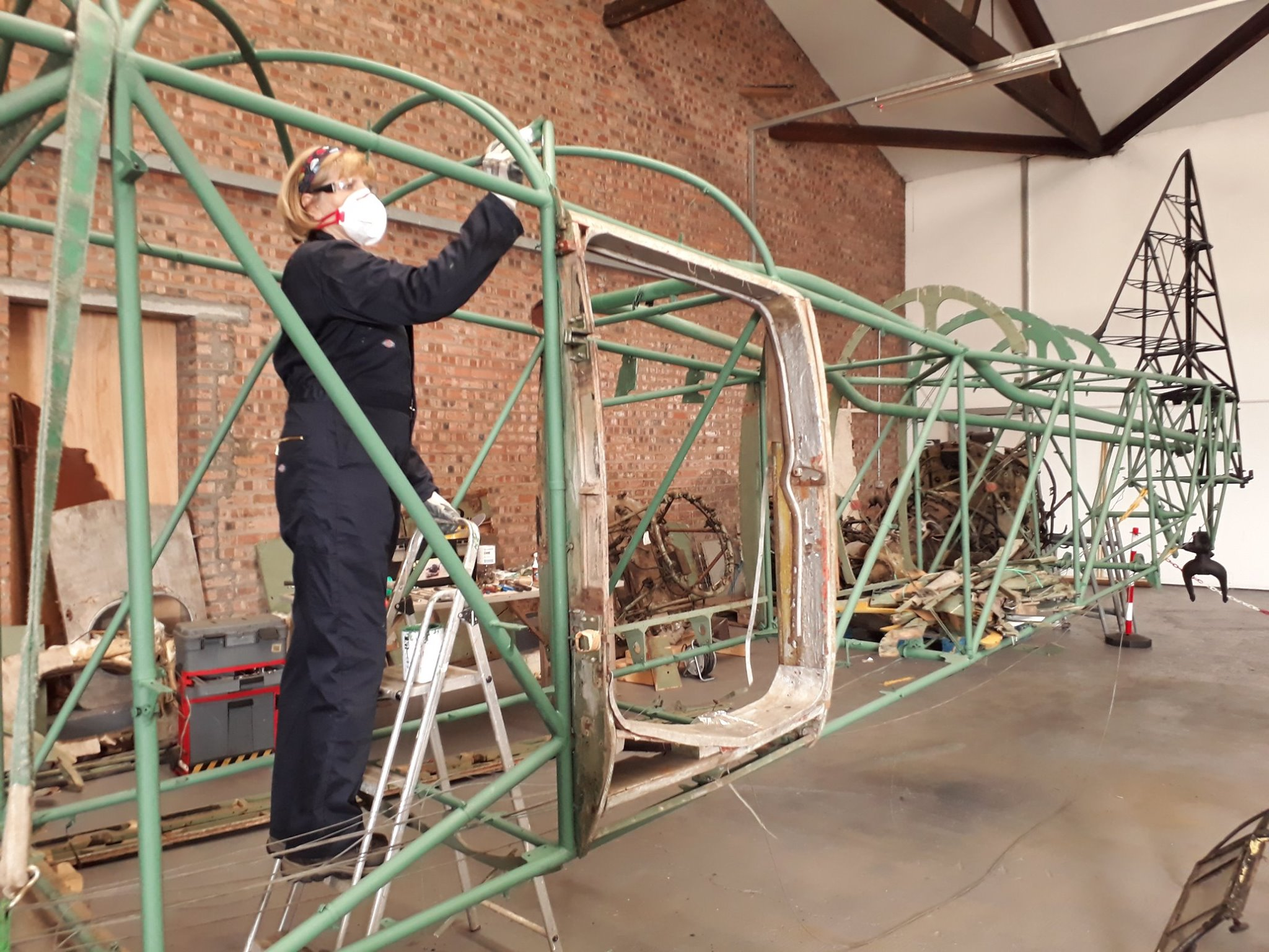 Work taking place on the Avro Anson.