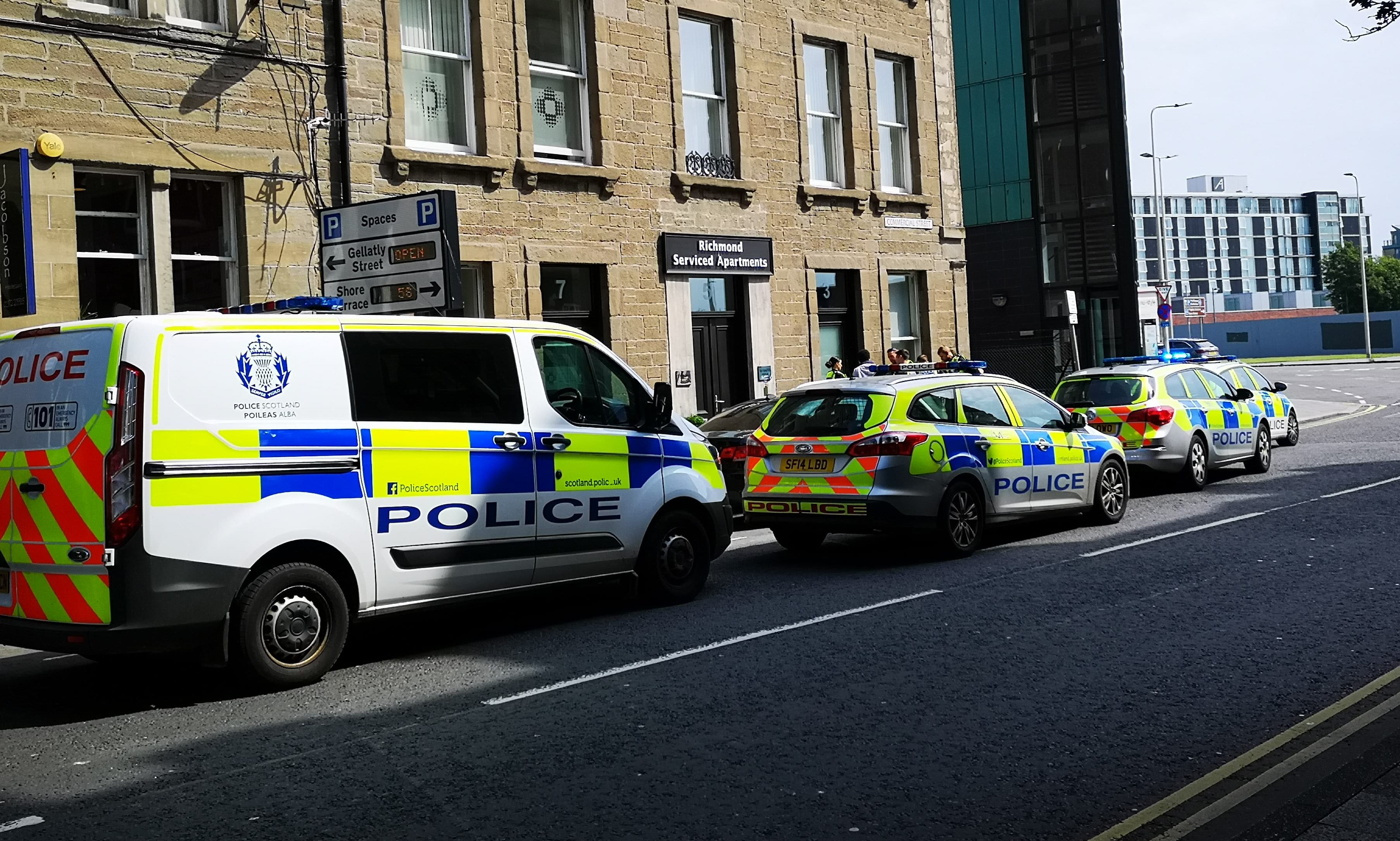 Police on Commercial Street.