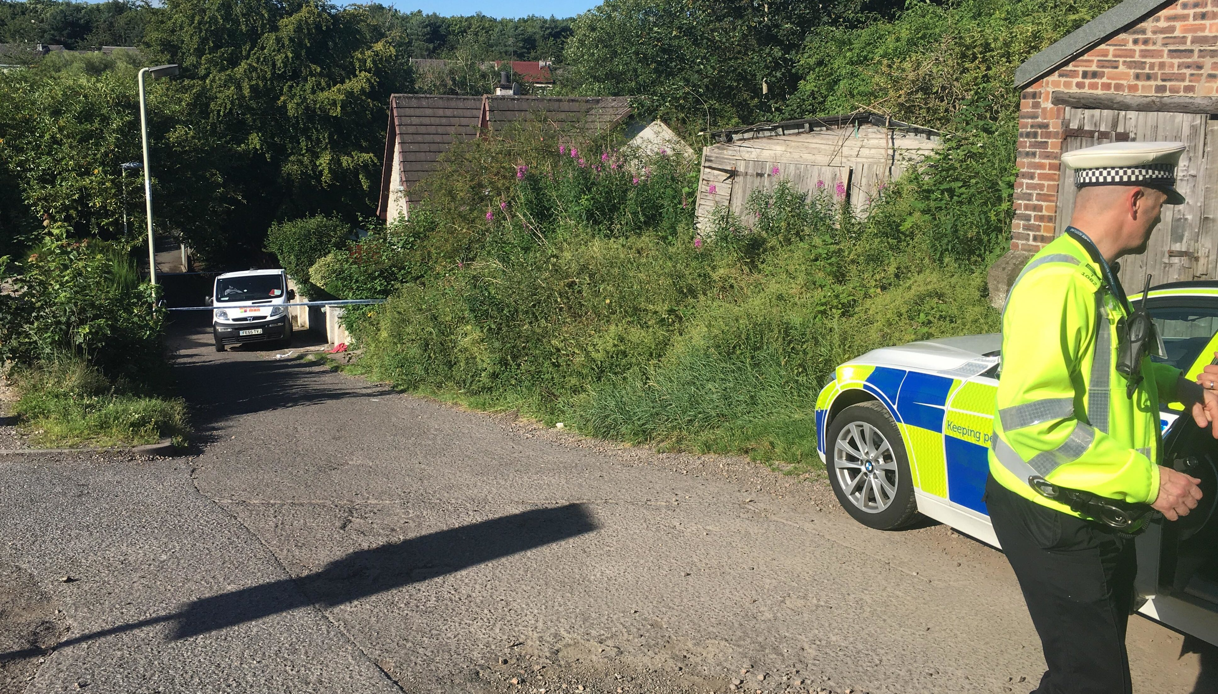 The scene of the incident in Invergowrie.
