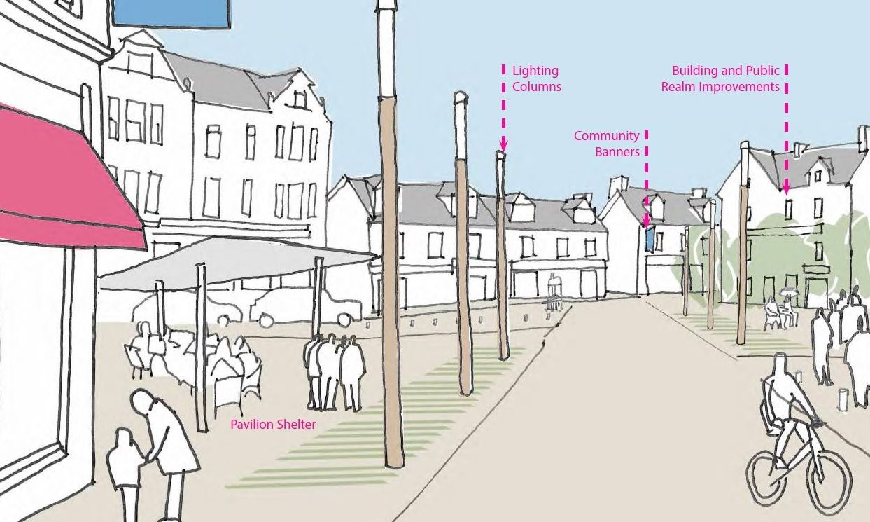 Sketches lodged with council planners show how Aberfeldy could look after regeneration