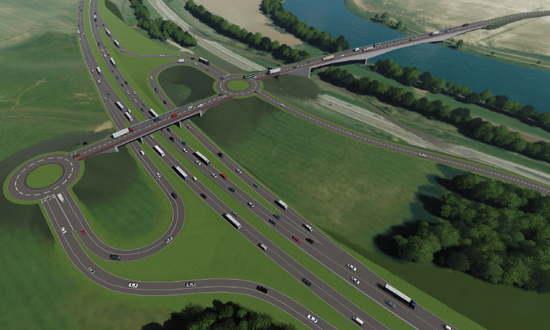 An early graphic of how the Cross Tay Link Road could look
