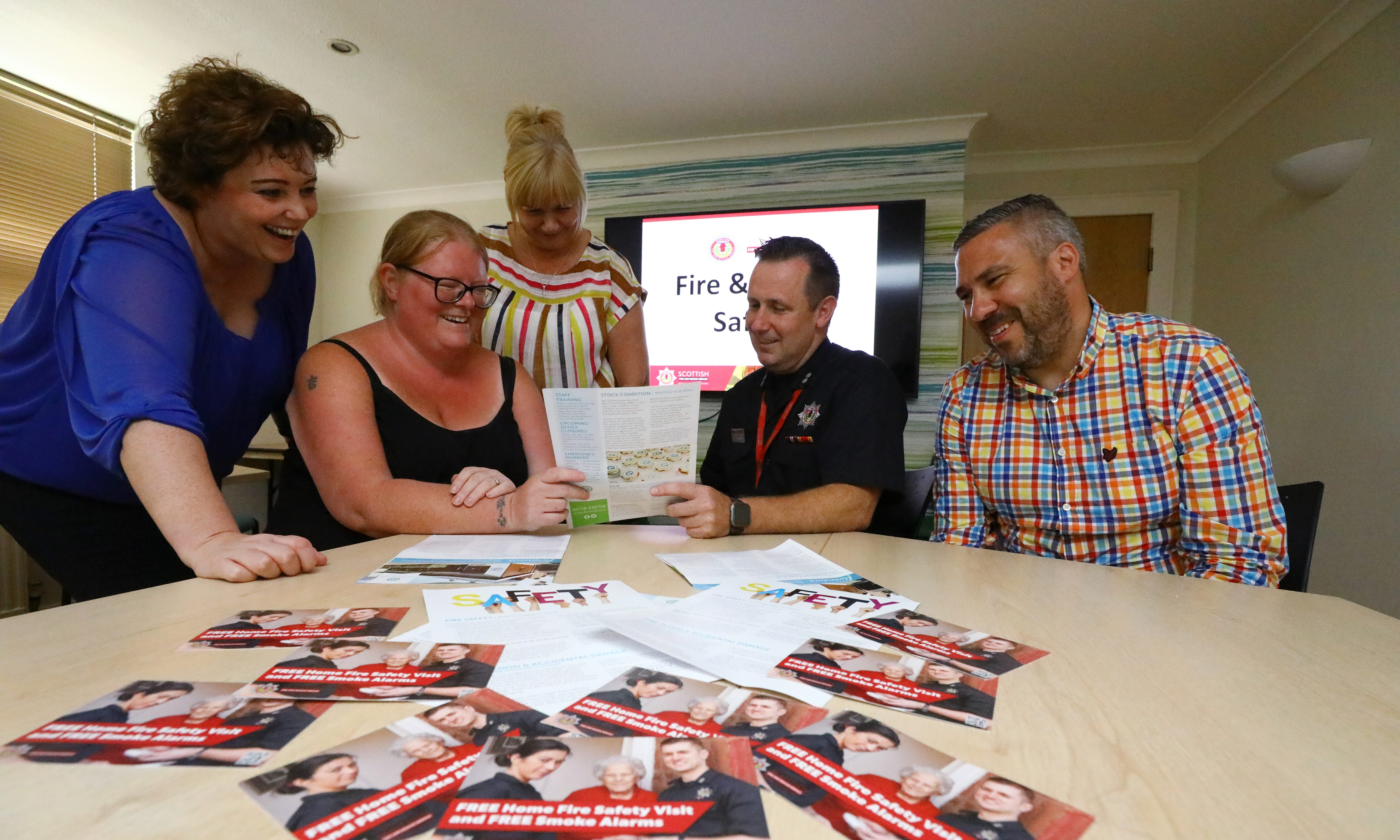 Fairfield Housing residents and staff met with SFRS on Thursday afternoon.