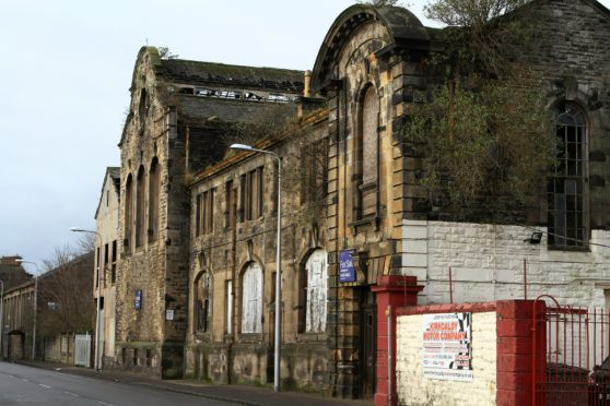 The former power station in Victoria Road prior to it being demolished.