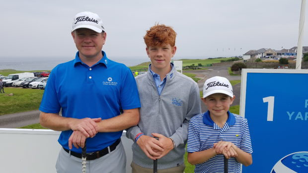 Stuart, Gregor and Conor Graham (l to r) at Crail GS.