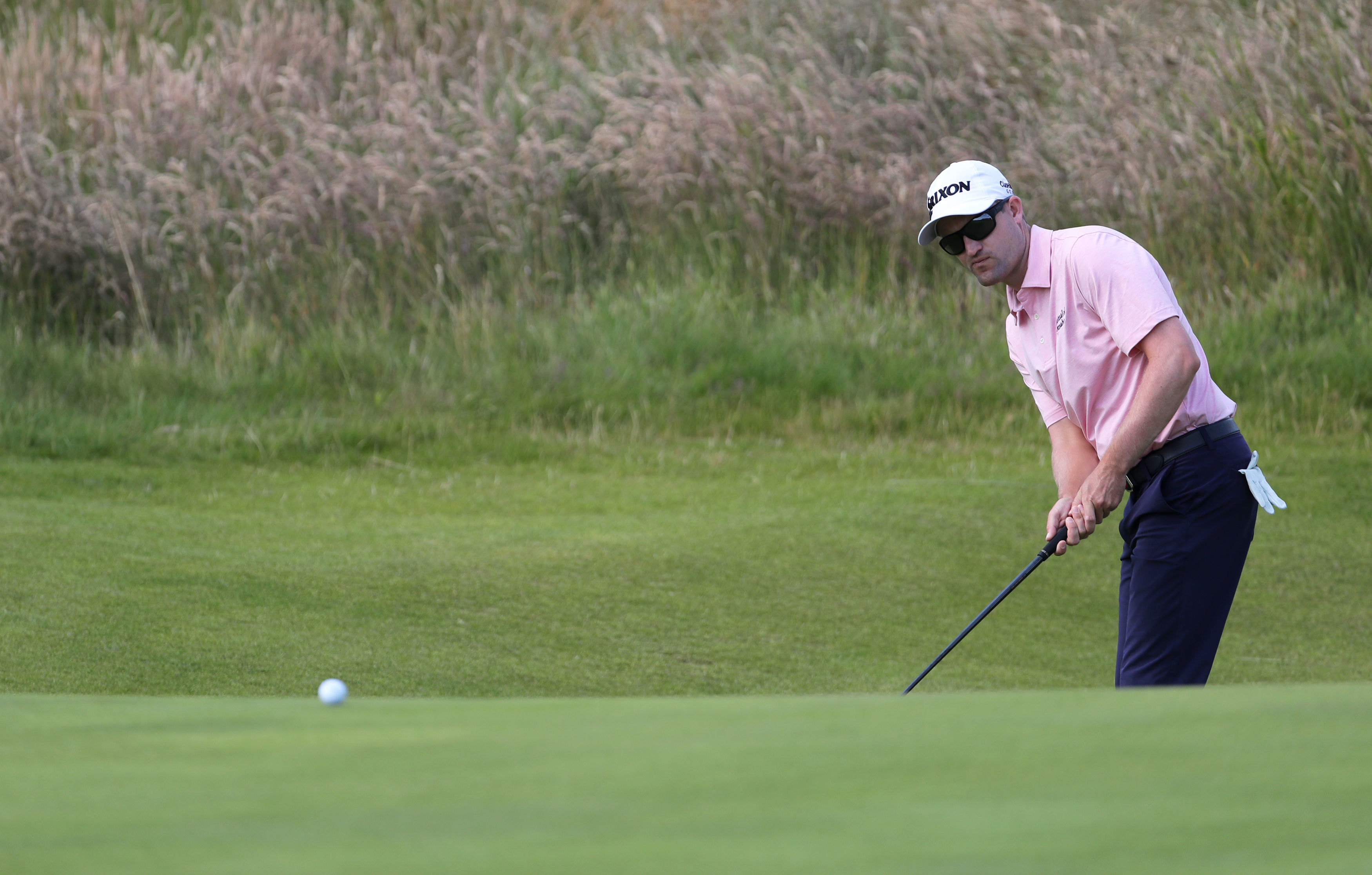 Scotland's Russell Knox in practice at Royal Portrush.