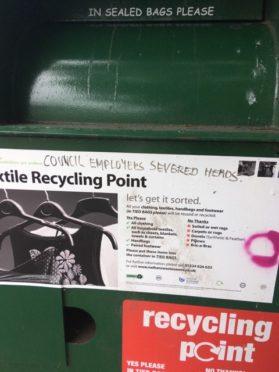 The graffiti has alarmed locals
