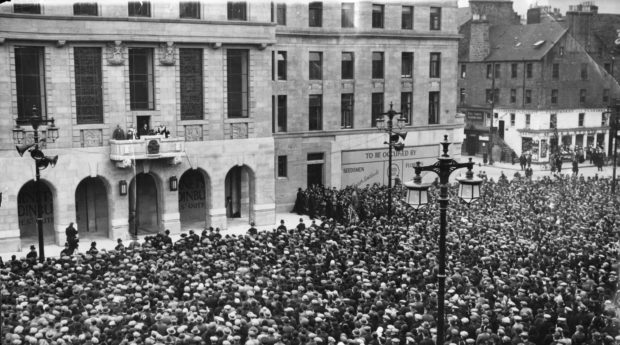 Dundee City Square opening ceremony.