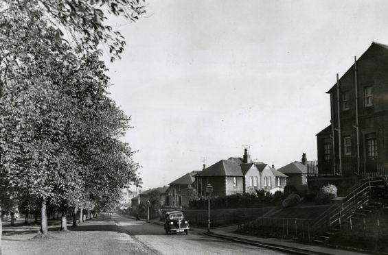 Logie Housing Scheme looking down Logie Avenue in 1960.