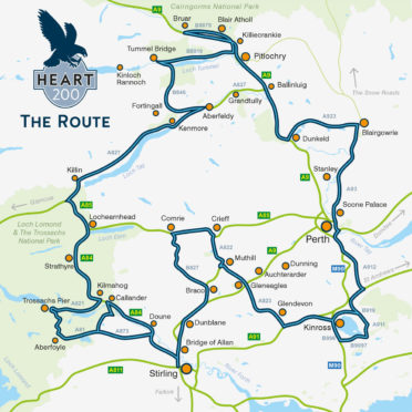 Heart 200 is a tourist trail around Perthshire and Stirlingshire.