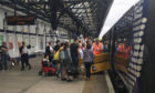 Dozens of passnegres were left stranded after Evans' conduct led to the train being terminated.