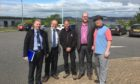 From left Tony McRae, Tim Brett, Neil Fergusson, Tay Road Bridge transport manager, Scott Hall, Cllr Jonny Tepp.