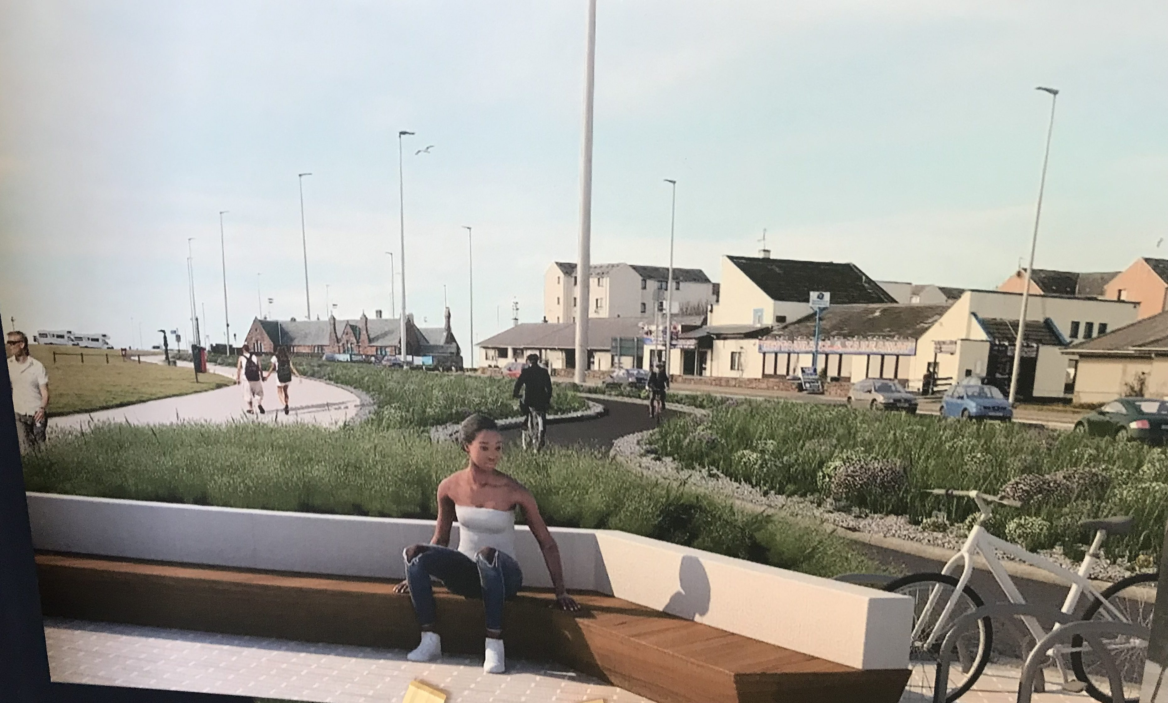A display shows how Arbroath could be transformed