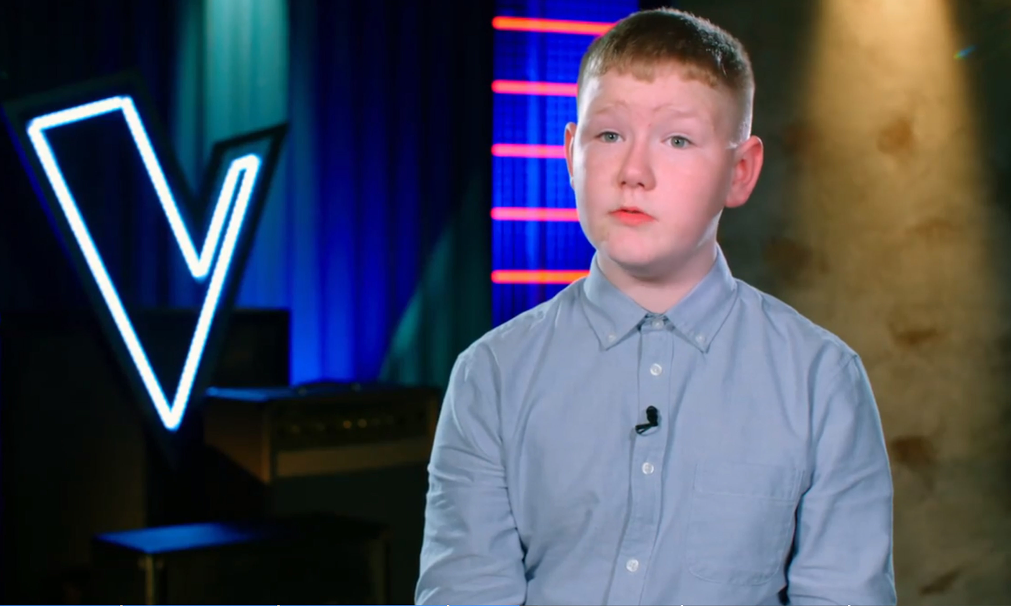 Dundee boy Jack Martin on The Voice Kids UK (ITV)