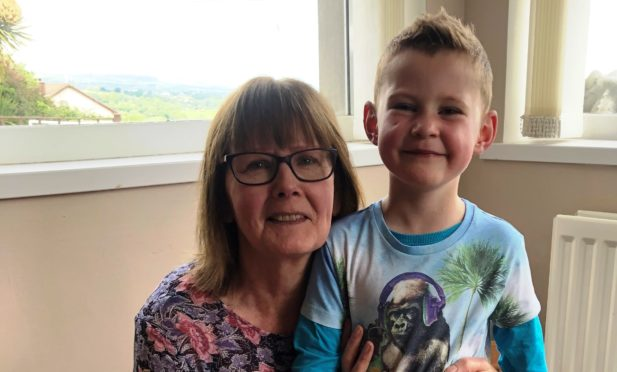 Joe with his beloved gran