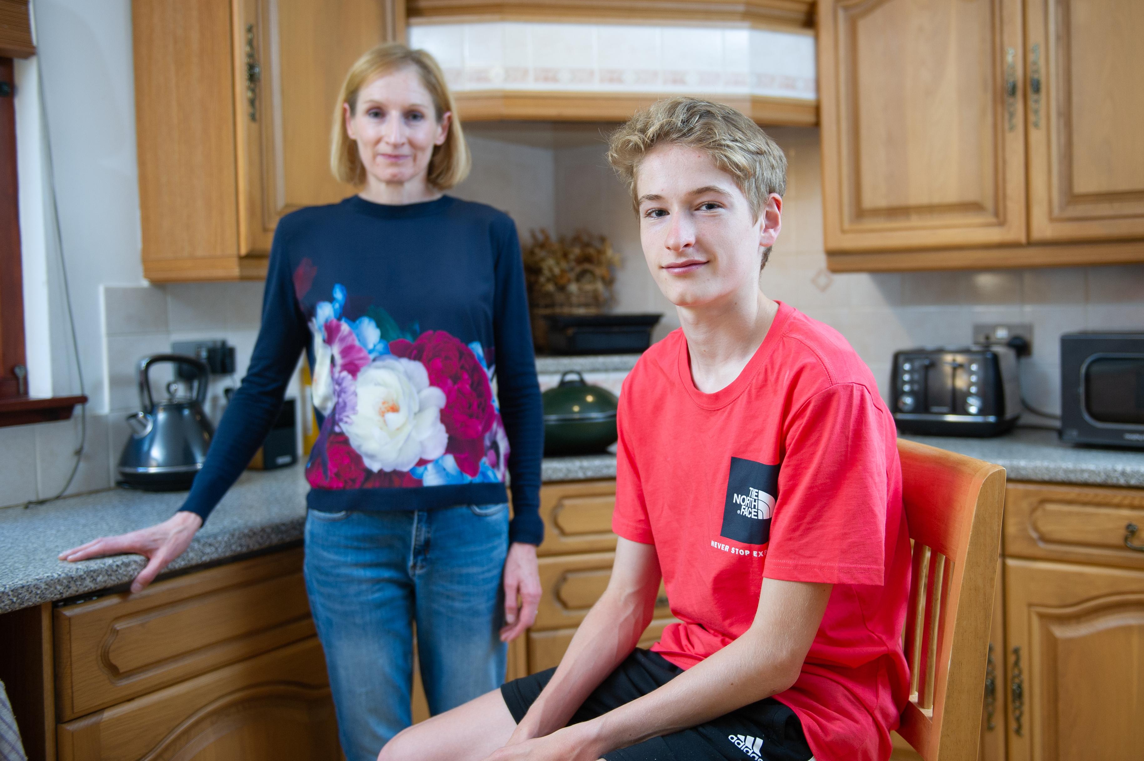 Jo McColgan and her son Ethan.