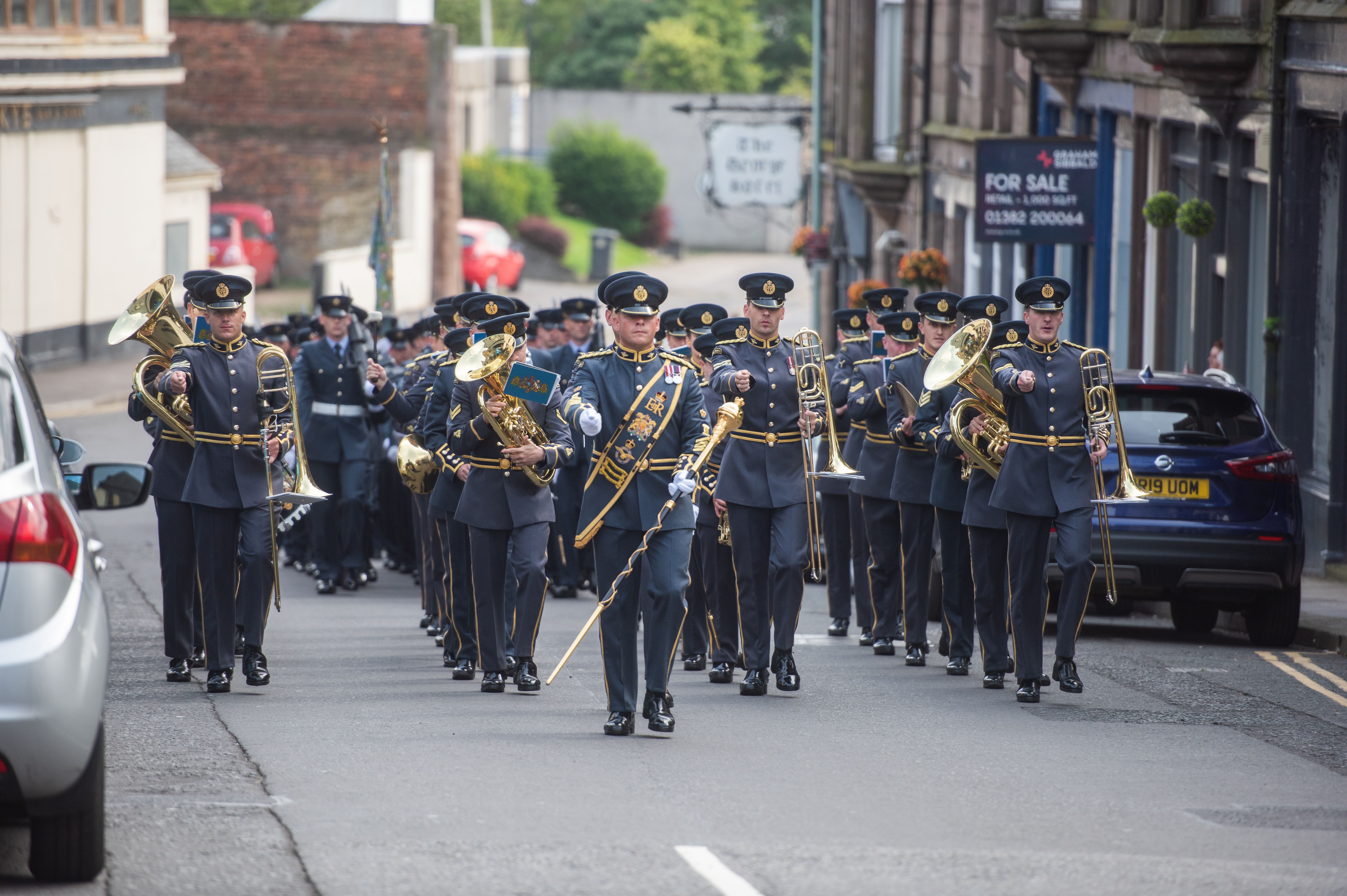 The parade and presentation to the No. II (AC) Squadron, George Street, Montrose.
