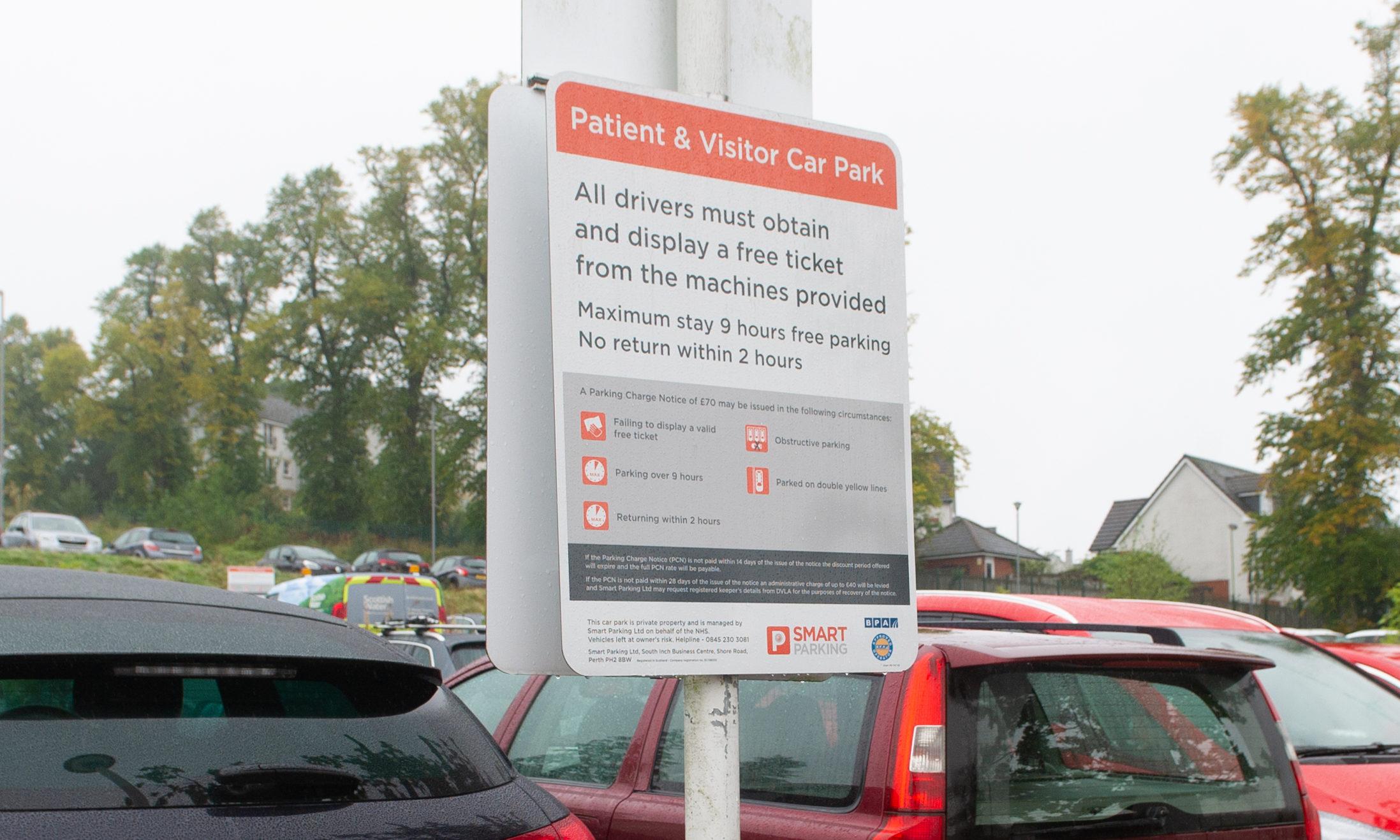 Parking at Perth Royal Infirmary.