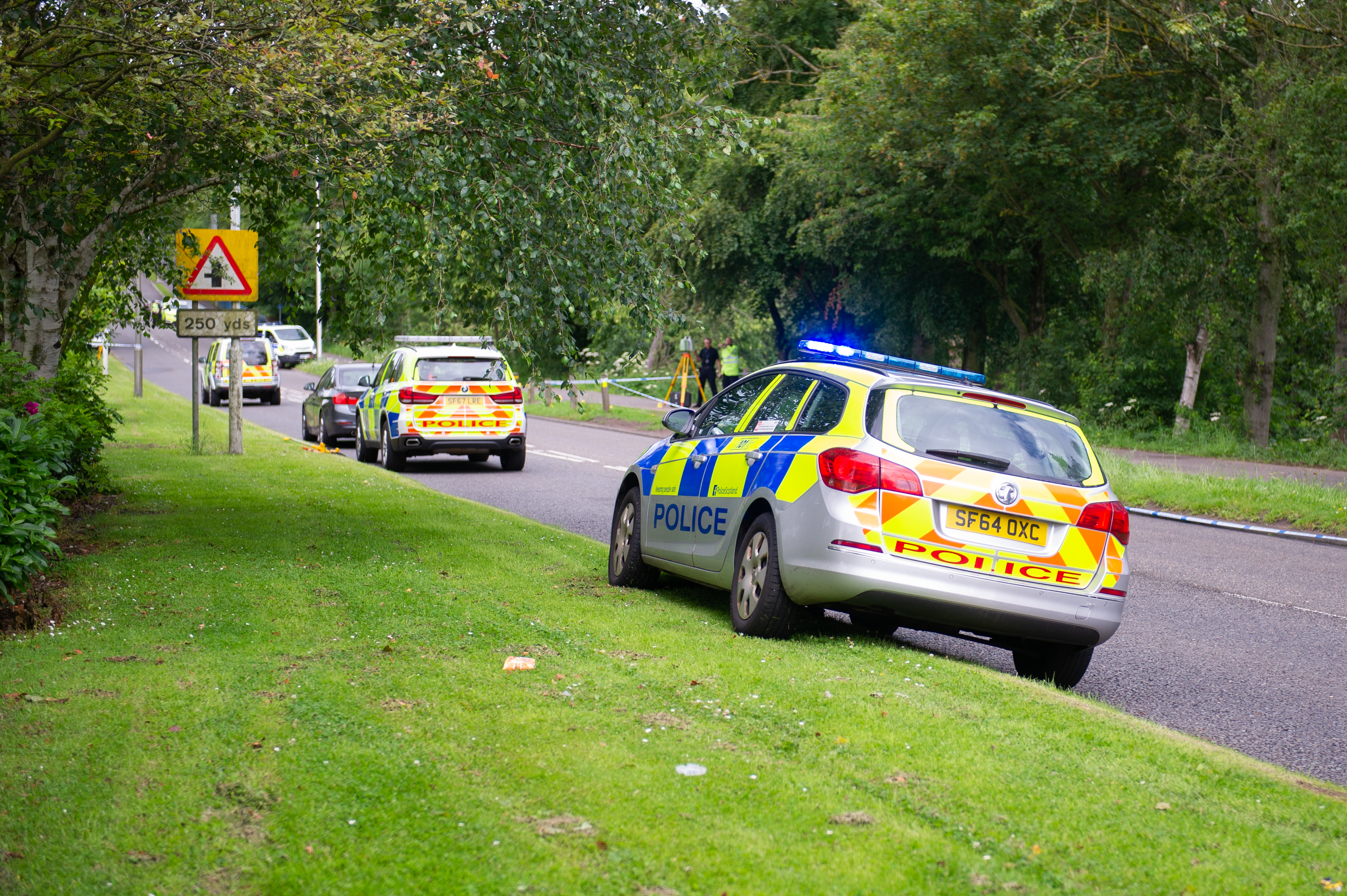 Parts of Riverside Park were sealed off as police investigated the incident.