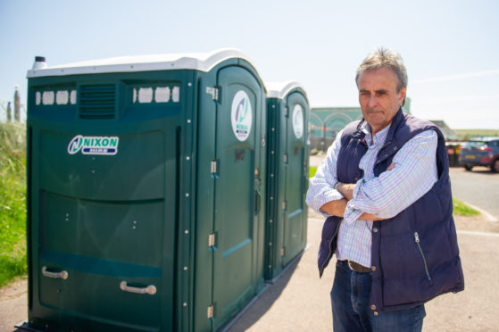 Cafe owner Henry Pinder has criticised the temporary toilet provision
