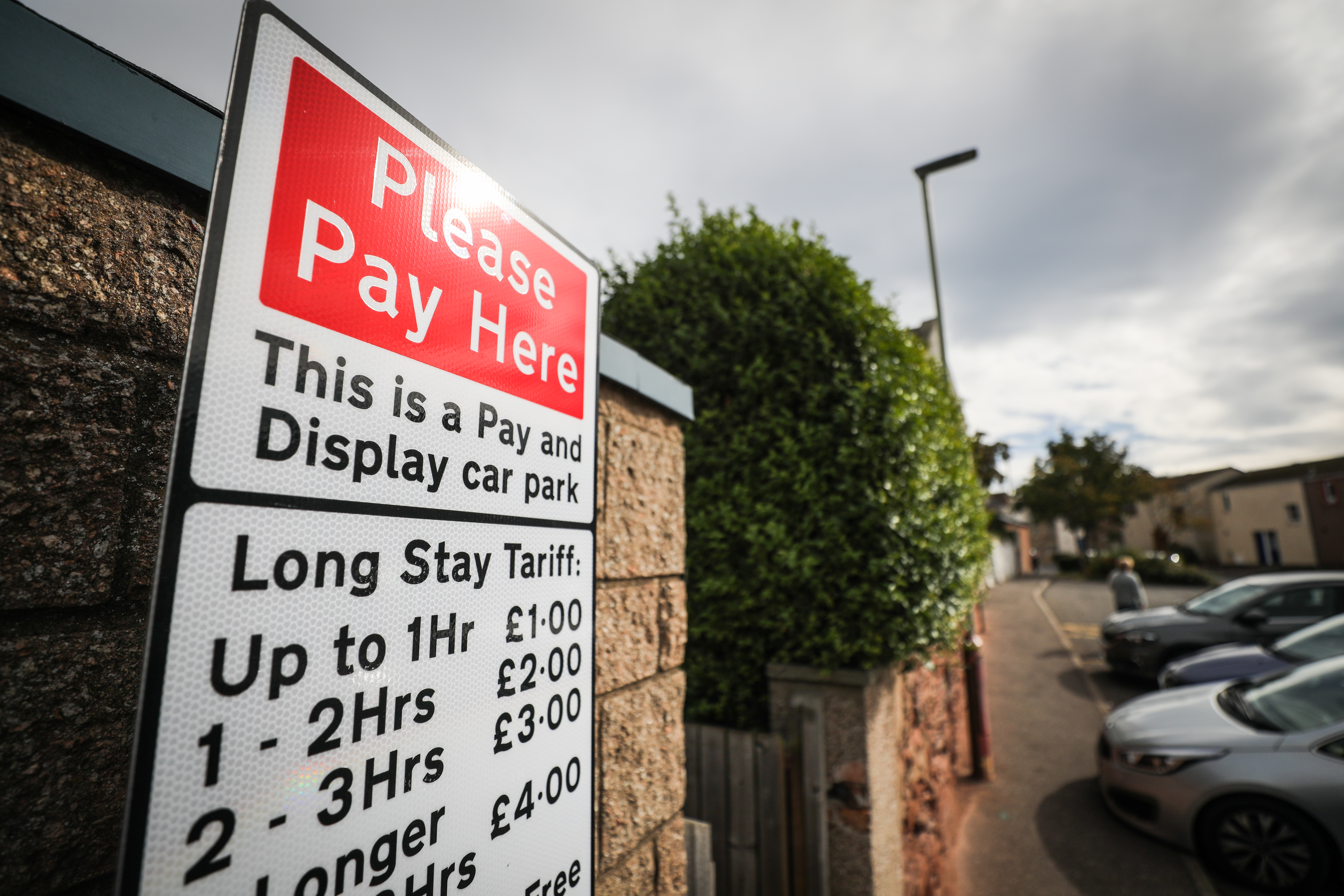 Charges in Angus car parks will remain suspended until the end of March.